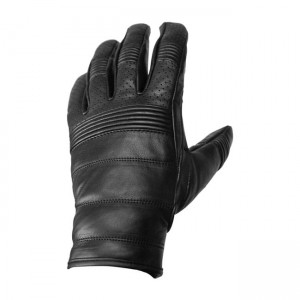 ROEG Hank leather gloves black rękawice motocyklowe cafe racer scrambler harley bobber chopper