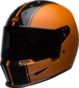 INTEGRALNY MOTOCYKLOWY KASK KASK BELL ELIMINATOR RALLY BLACK/METALIC ORANGE HARLEY BOBBER CHOPPER