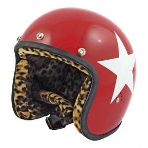 BANDIT HELMET STAR, RED W/WHITE STAR Z PANTERKĄ