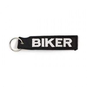 BRELOK DO KLUCZY  KEY RING BIKER BLACK WHITE