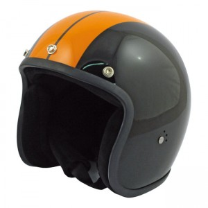 BANDIT KASK JET RACE, POŁYSK BLACK/ORANGE