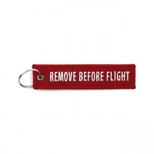 BRELOK DO KLUCZY  REMOVE BEFORE FLIGHT RED