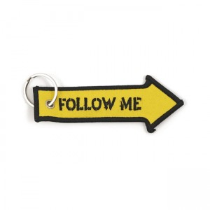 BRELOK DO KLUCZY KEY RING FOLLOW ME, YELLOW BLACK