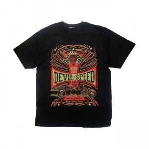 KING KEROSIN DEVIL SPEED T-SHIRT BLACK