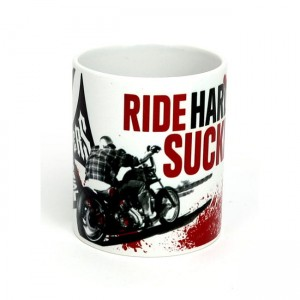 Kubek motocyklowy chopper harley WCC Ride Hard Sucker mug white
