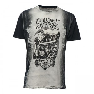 WCC F... YOU T-SHIRT VINTAGE GREY WEST COAST CHOPPERS